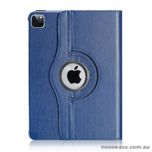 360 Degree Rotating Case for Apple iPad Pro 12.9 inch 2020  Navy Blue
