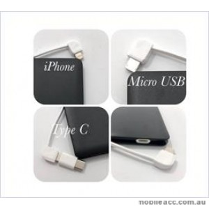 3in 1 Power bank For Universal phone / ipad 4000 mAh Black