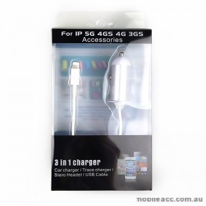 Lightning 8 Pin Car Charger for iPhone 5/5S/SE / 5C