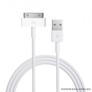 2m USB to 30 pin Charge & Sync Data Cable for iPhone 4 / 4S - White