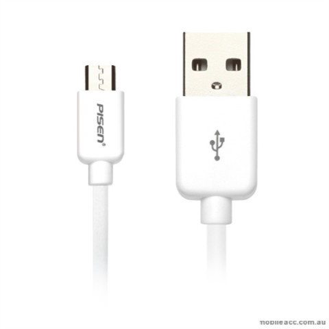 PISEN Micro USB Data Cable 800mm - White