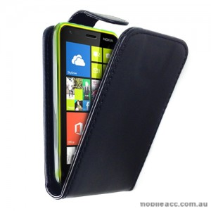 Synthetic PU Leather Flip Case for Nokia Lumia 620 - Black