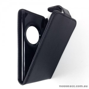 Synthetic Leather Flip Case with Wallet Card Holders for Nokia Lumia 1020 - Black