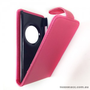 Synthetic Leather Flip Case with Wallet Card Holders for Nokia Lumia 1020 - Hot Pink