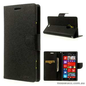 Mercury Goospery Fancy Diary Wallet Case for Nokia Lumia 1520 - Black