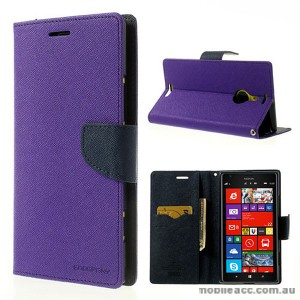 Mercury Goospery Fancy Diary Wallet Case for Nokia Lumia 1520 - Purple