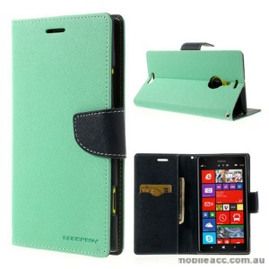Mercury Goospery Fancy Diary Wallet Case for Nokia Lumia 1520 - Mint