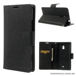 Mercury Goospery Fancy Diary Wallet Case for Nokia Lumia 1320 - Black