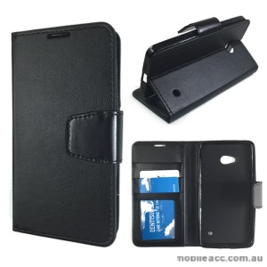 Standard TPU In Wallet Case for Microsoft Nokia Lumia 640 - Black