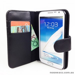 Loel Quality Wallet Case for Samsung Galaxy Note2 N7100 - Black