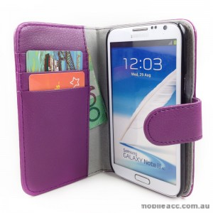 Loel Quality Wallet Case for Samsung Galaxy Note2 N7100 - Purple