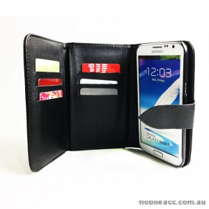 Triple Folded PU Leather Wallet Case for Samsung Galaxy Note2