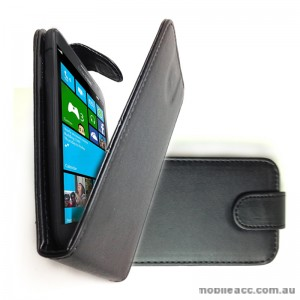 Synthetic Leather Flip Case for Samsung Galaxy Ativ S - Black