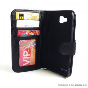 Litchi Skin Synthetic PU Leather Wallet Case for Samsung Galaxy Ativ S i8750