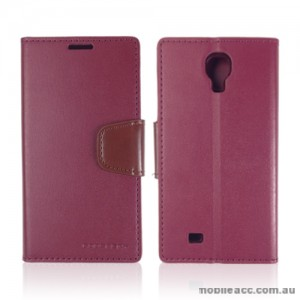 Mercury Goospery Sonata Wallet Case for Samsung Galaxy S4 - Ruby Wine