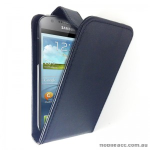 Flip Pouch Case with Card Slots for Samsung Galaxy Express i8730 - Black