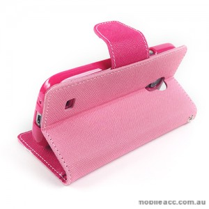 Mercury Goospery Fancy Diary Wallet Case for Samsung Galaxy S4 mini - Light Pink