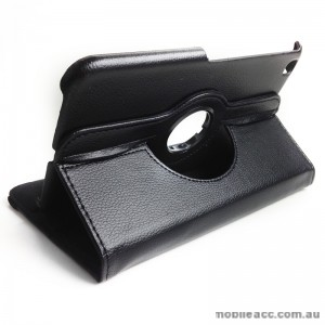 360 Degree Rotary Case Cover for Samsung Galaxy Tab 3 8.0 - Black