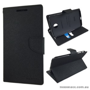 Korean Mercury Fancy Diary Wallet Case Samsung Galaxy Tab 3 8.0 - Black