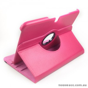 360 Degree Rotary Case Cover for Samsung Galaxy Tab 3 10.1 - Hot Pink