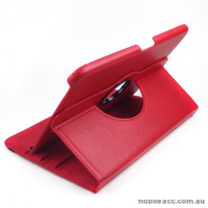 360 Degree Rotary Case Cover for Samsung Galaxy Tab 3 10.1 - Red