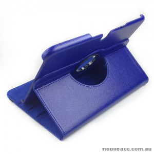 360 Degree Rotary Case Cover for Samsung Galaxy Tab 3 10.1 - Blue