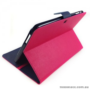 Mercury Goospery Fancy Diary Case for Samsung Tab 3 10.1 - Hot Pink