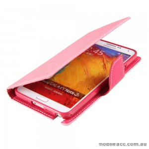 Mercury Goospery Fancy Diary Wallet Case for Samsung Galaxy Note 3 - Pink