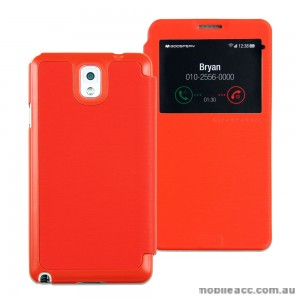 Mercury Goospery Easy View Flip Cover for Samsung Galaxy Note 3 - Orange