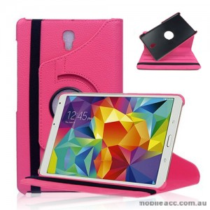 360 Degree Rotating Case for Samsung Galaxy Tab S 8.4 - Hot Pink