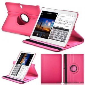 360 Degree Rotating Case for Samsung Galaxy Tab Pro 10.1 - Hot Pink