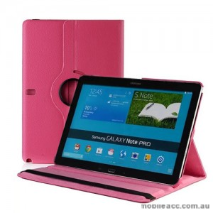 360 Degree Rotating Case for Samsung Galaxy Note Pro 12.2 - Hot Pink