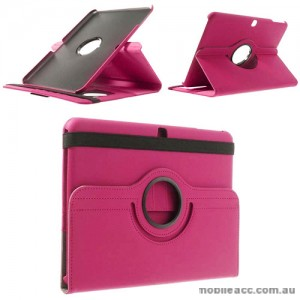 360 Degree Rotating Case for Samsung Galaxy Tab 4 10.1 - Hot Pink