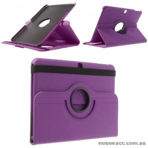 360 Degree Rotating Case for Samsung Galaxy Tab 4 10.1 - Purple