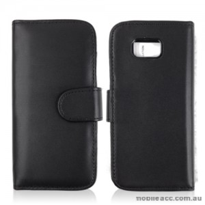 Synthetic Wallet Case Cover for Samsung Galaxy Alpha - Black