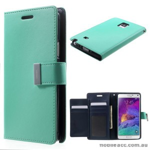 Korean Mercury Rich Wallet Case for Samsung Galaxy Note 4 - Green