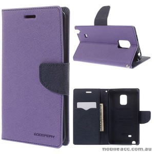 Korean Mercury Fancy Wallet Case for Samsung Galaxy Note Edge - Purple
