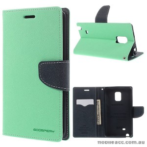 Korean Mercury Fancy Wallet Case for Samsung Galaxy Note Edge - Green
