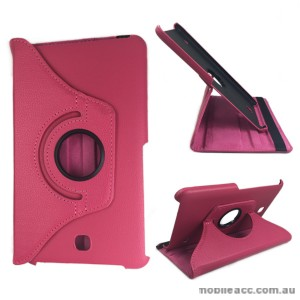 360 Degree Rotating Case for Samsung Galaxy Tab 4 8.0 - Hot Pink