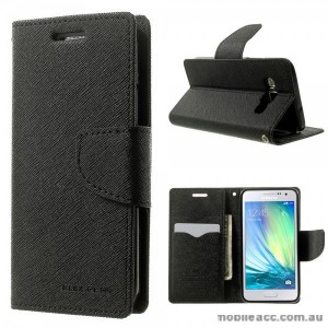 Korean Mercury Fancy Diary Wallet Case for Samsung Galaxy A5 - Black