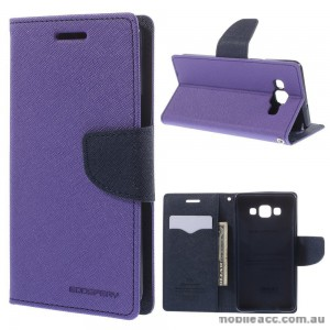 Korean Mercury Fancy Diary Wallet Case for Samsung Galaxy A5 - Purple