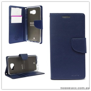Mercury Goospery Bravo Diary Wallet Case For Samsung Galaxy A5 2016 - Navy