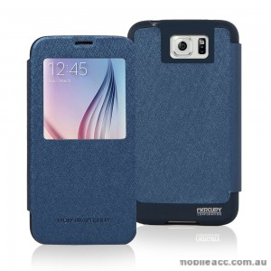 Korean Mercury WOW View Cover for Samsung Galaxy S6 Edge Blue