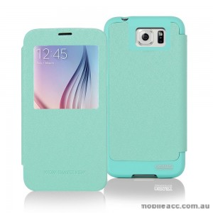 Korean Mercury WOW View Cover for Samsung Galaxy S6 Edge Green