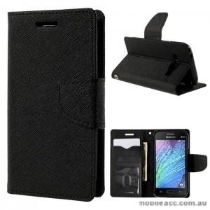 Mercury Goospery Fancy Diary Wallet Case for Samsung Galaxy J1 Black
