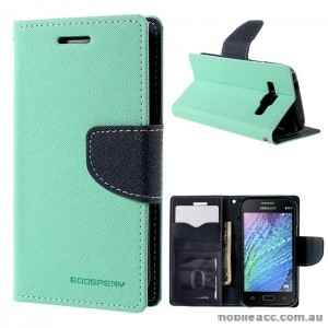 Mercury Goospery Fancy Diary Wallet Case for Samsung Galaxy J1 Green