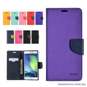 Korean Mercury Fancy Diary Wallet Case Cover for Samsung Galaxy J1 Purple
