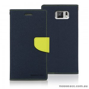 Korean Mercury Fancy Dairy Wallet Case for Samsung Galaxy J5 Navy