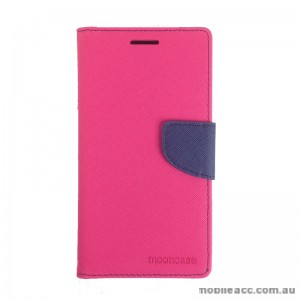 Mooncase Stand Wallet Case for Samsung Galaxy J1 Ace Hot Pink