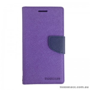 Mooncase Stand Wallet Case for Samsung Galaxy J1 Ace Purple